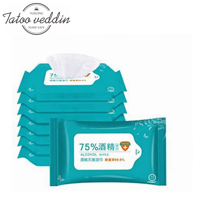 50PCS/Pack Disposable Alcohol Wipes Sterilization Portable Wipes Antibacterial Cleaning Skin Cleaning Care Alcohol Wet Wipes