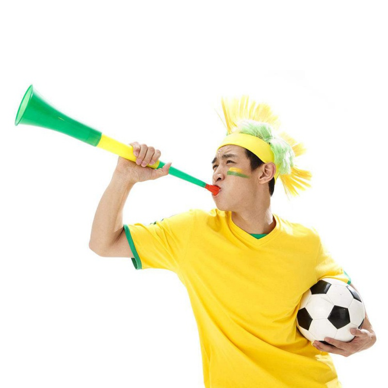 Random Color Football Cheer Fan World Cup Speakers World Cup Trumpet World Cup Horn 45.5*9 Plastic Ornaments World Cup Vuvuzela