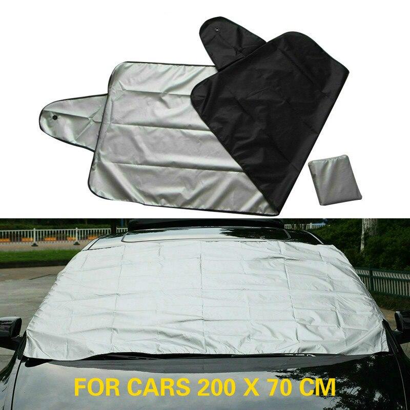 210*125 см автомобильный Магнитный солнцезащитный козырек для лобового стекла автомобиля Снежный солнцезащитный козырек водонепроницаемый защитный чехол для лобового стекла автомобиля - Цвет: 200x70cm