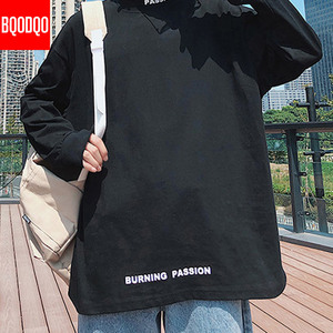 Image 4 - גולף מזדמן T חולצת גברים ארוך שרוול אביב סתיו היפ הופ אופנה כושר Tees זכר Harajuku הגדול Streetwear T חולצות