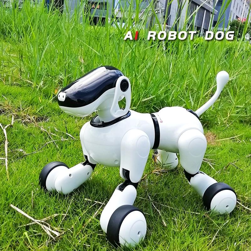 Детские игрушки 1803 AI собака Робот игрушка для вашей семьи и друзей приложение управление Bluetooth подключение умный электронный AI игрушка для