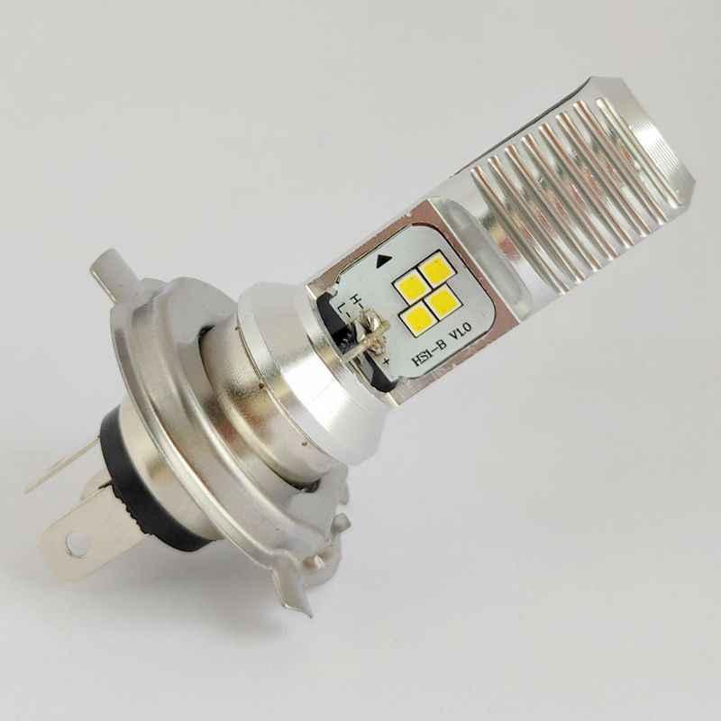 T19 LED אופנוע פנס אופנוע H4 LED HS1 BA15D P15D-25-1 4 נוריות שבב 1000lm 6000K 1PC