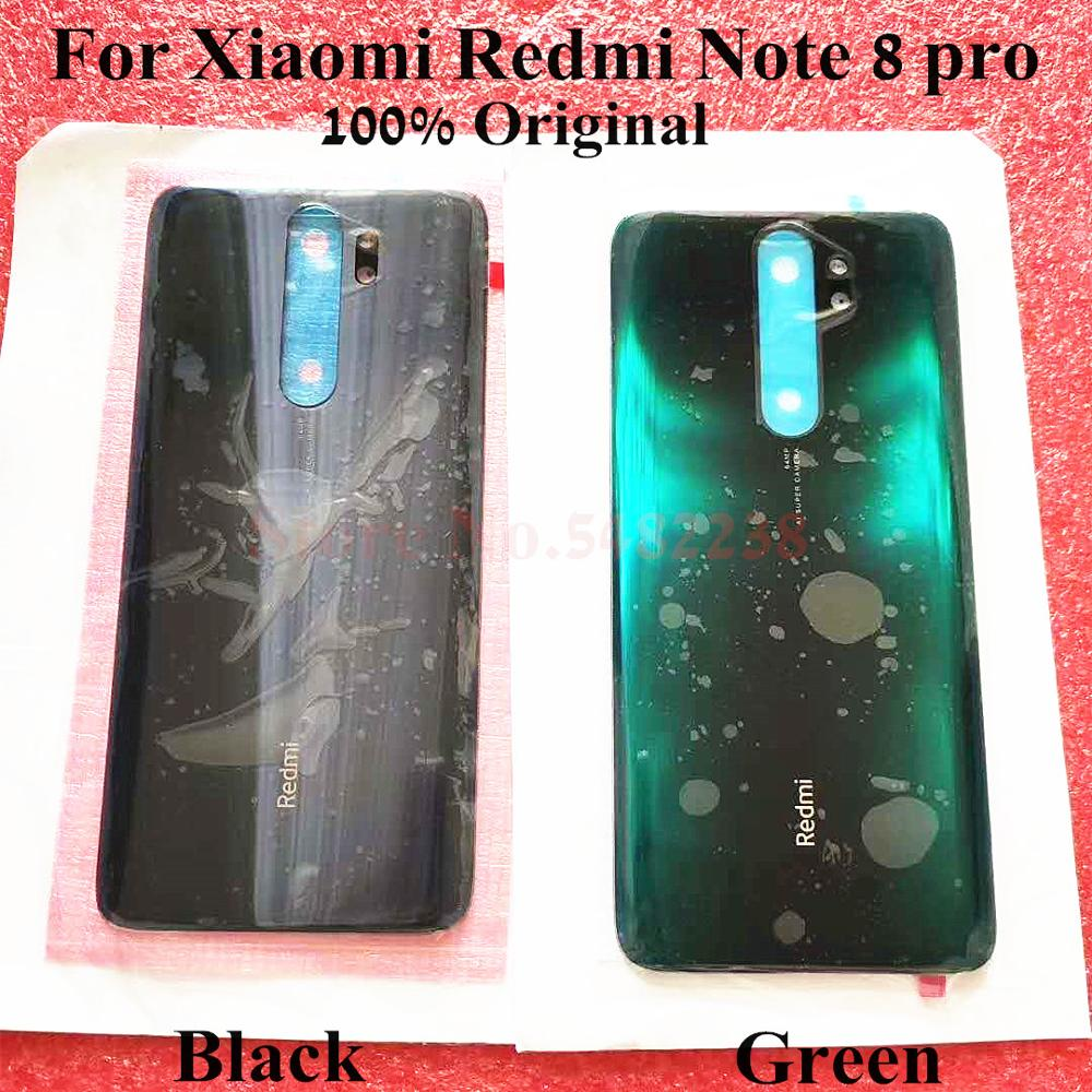 100% Original battery Back cover For Xiaomi Redmi Note 8 pro NT8PRO Rear Housing door Mobile phone case Replacement parts