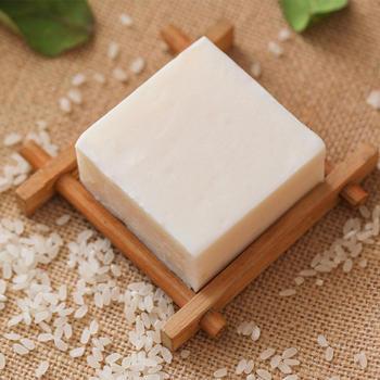 1pc Handmade Rice Milk Soap Collagen Vitamin Skin Whitening Acne Pore Removal Moisturizing Bleaching Home Travel Bath Clean 1