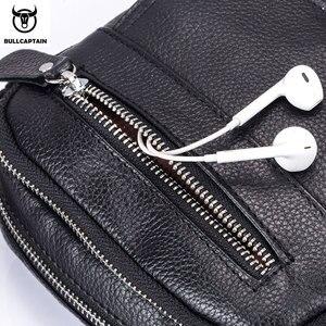 Image 4 - BULLCAPTAIN sacoche en cuir pour hommes, sacoche à épaule, fourre tout mode pour hommes, sacoche de poitrine