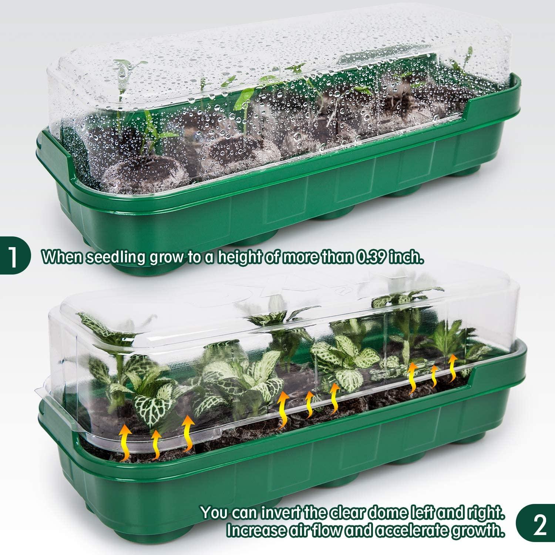 AMKOY 10 шт семян, начиная пластиковым обвесом детские горшки лотки для рассады подоконнике тепличные лотки с крышкой купол крытый открытый