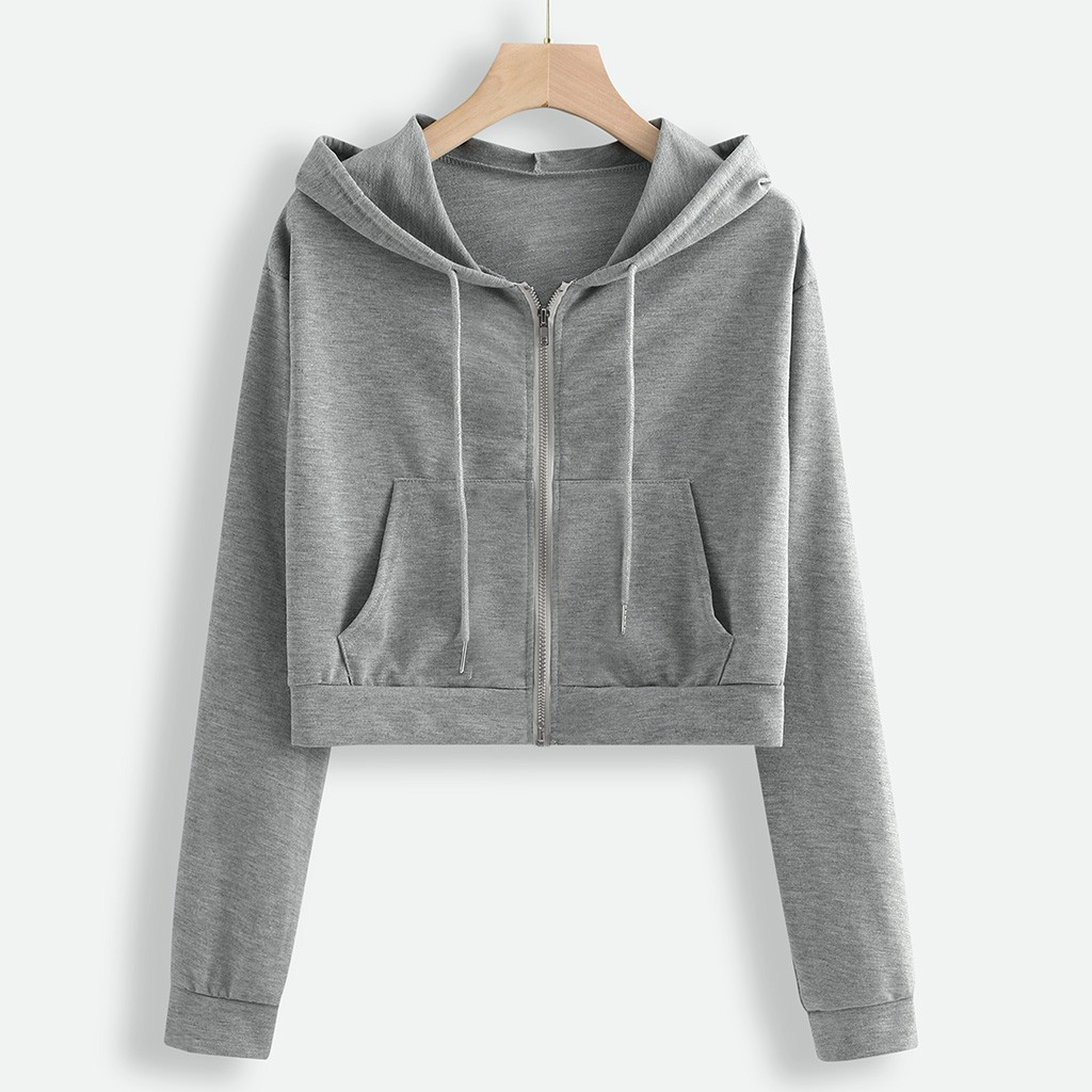 Womens Pullover Sweatshirt,Ladies Long Sleeve Drawstring pHoodies Solid Pocket Loose High Collar Jacket Coat Tops