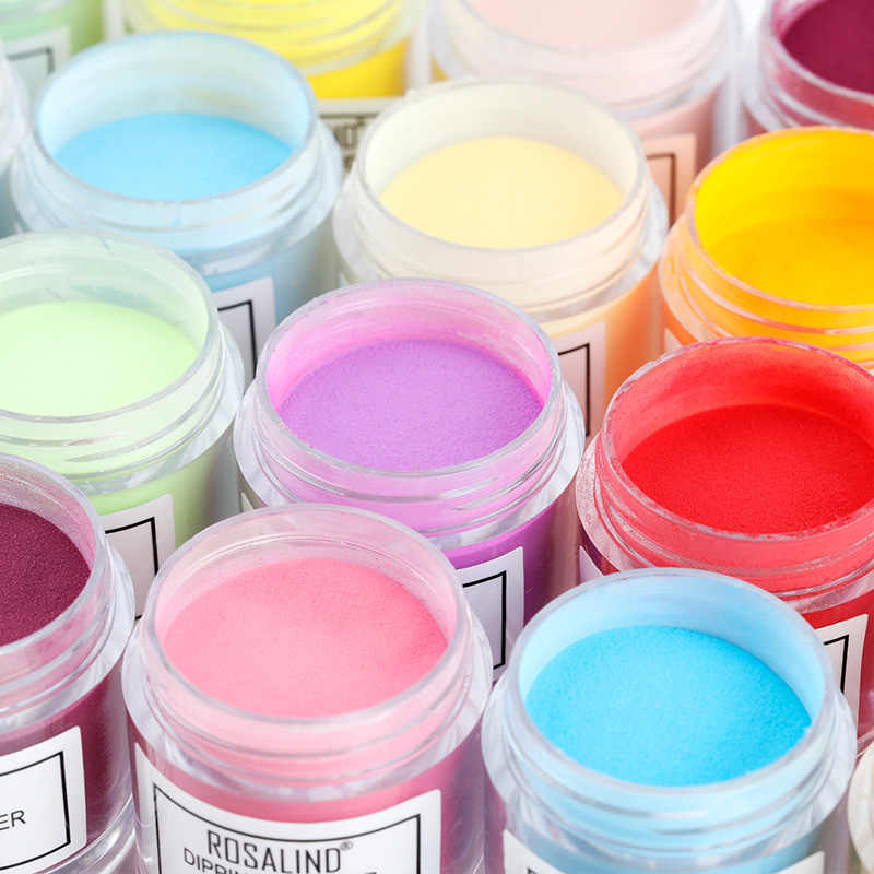 ROSALIND Dipping Powder Holographic Dust Nail Art Decorations without Lamp Cured 10g All For Manicure Nails Glitter Dip Powder