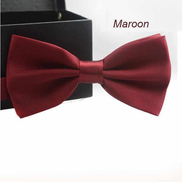 14 kleur Classic Mode Nieuwigheid Mens Verstelbare Tuxedo Wedding Bow Tie Stropdas Bowtie Effen Kleuren Roze Blauw Rood Champagne