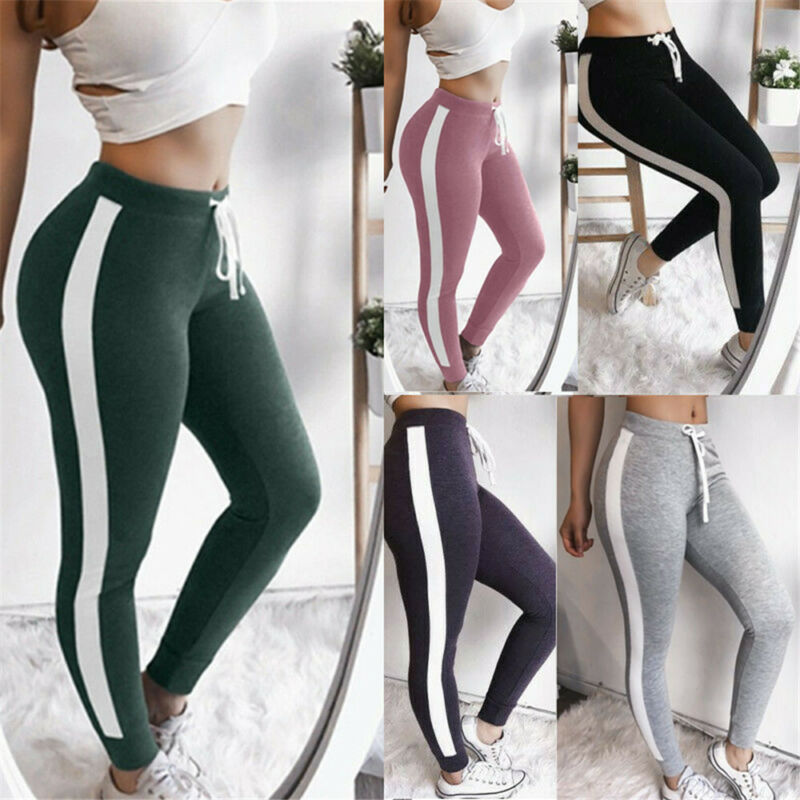 Ladies track pants plus size weatpants Women Sport Pants High Waist Fitness Legging Running Gym Scrunch Trouser ropa mujer