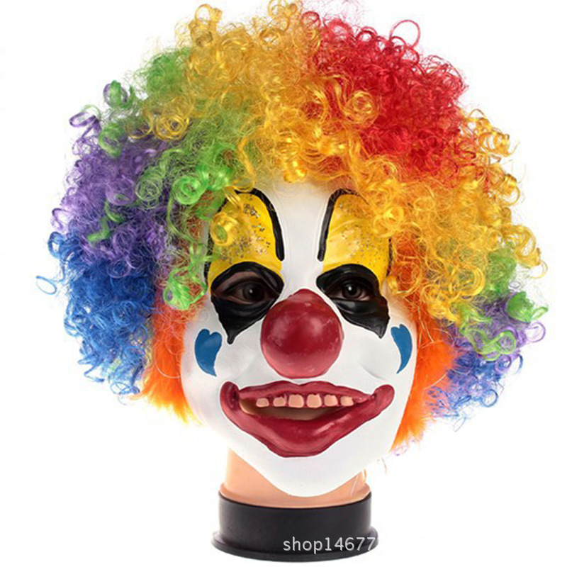 Cosplay Mask Funny Mask Clown Accessories Wig Wholesale Adult Funny Latex Clown Mask