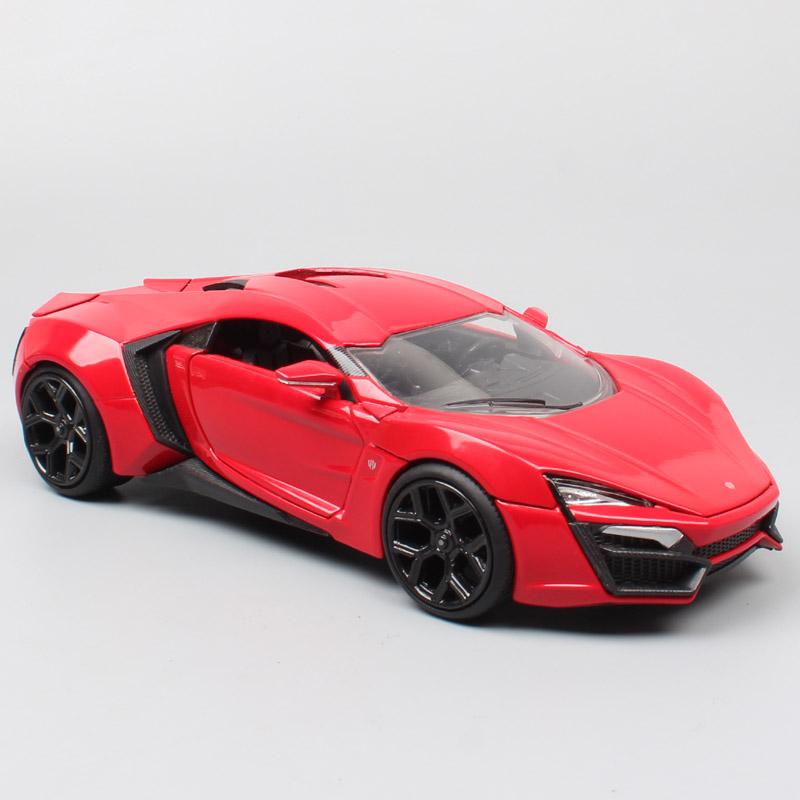 Luxury 1:24 Big Scale Jada Lykan HyperSport Diecast Vehicles Super Sports Race Cars Metal Toy Models Souvenir Collectors Of Kids