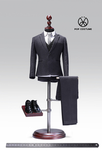 Image 4 - In Stock 1/6 Scale Male Western Suit with Leather Shoes Poptoys X28/X27 Clothes for 12 Inches DIY Narrow Shoulder Body Figure