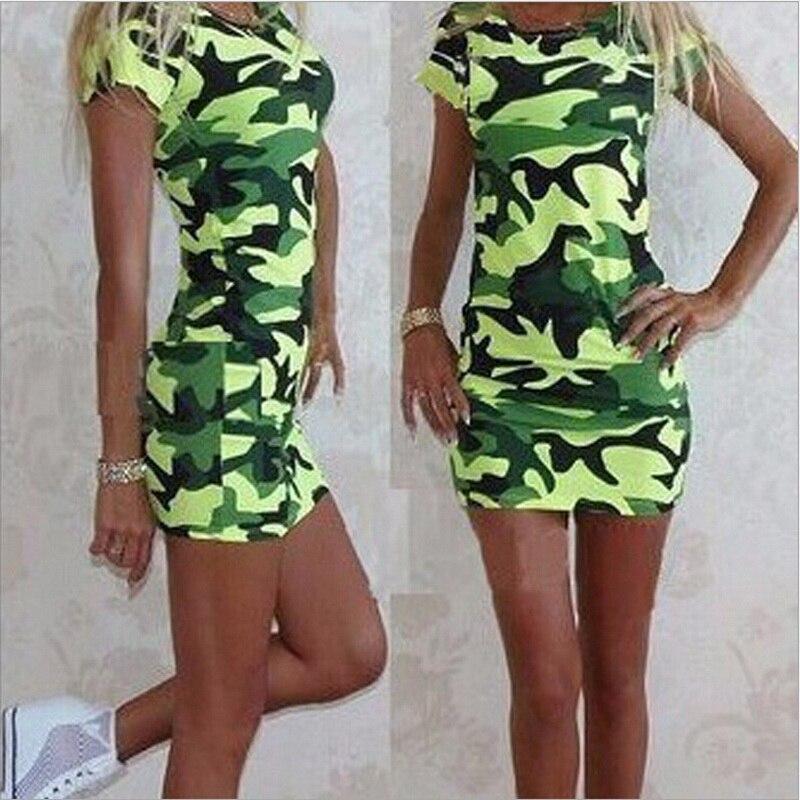 H563bbb108e3c4a95b1acb56557cfab0ag Festy Kary New Arrival 2018 Women Dress O Neck Sleeveless Cartoon Print Camouflage Color Elegant Sexy Ladies Dresses