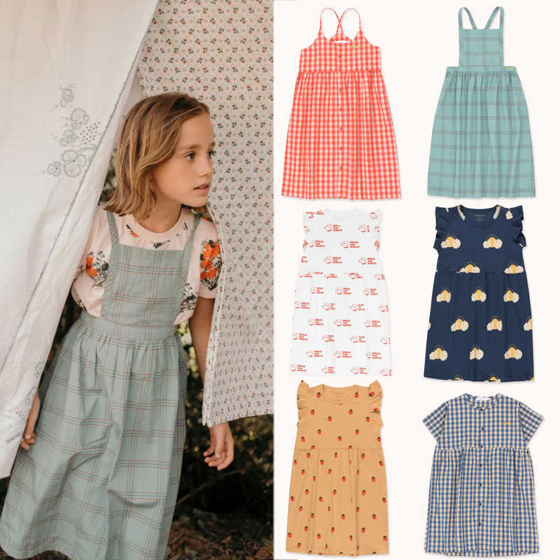Kids Dresses 2020 Brand New Spring Summer Gilrs Cute Print Dress Baby Child Fashion Princess Clothes Dress