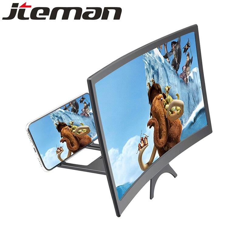 """12 """"HD Stend pantalla ampliada teléfono móvil de proyección cine amplificore schedero lupa para amplificador de lupa celular"""