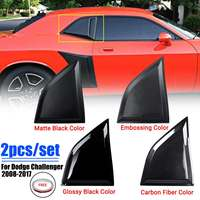 1 Pair Window Scoops Quarter Panel Window Cover Side Louvers Vent For Dodge Challenger XE 2008 2017|Side Window Sunshades| |  -