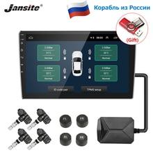 Jansite system monitorowania ciśnienia w oponach TPMS samochodu monitor systemu ładowanie energii słonecznej wyświetlacz inteligentny ostrzeżenie o temperaturze z 4 czujnikami