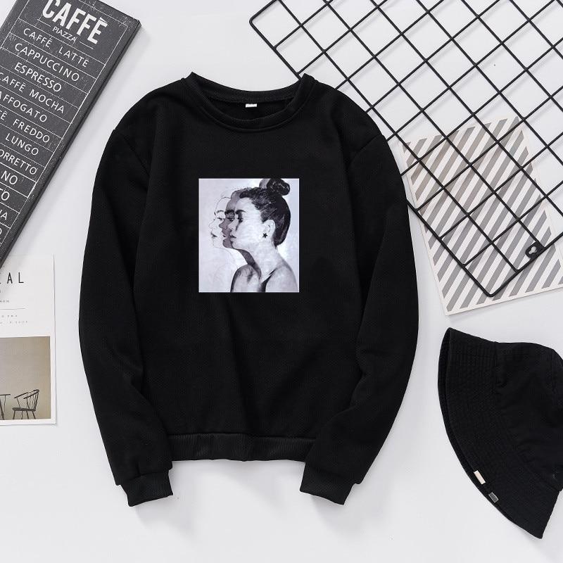 2019 New Fashion Hoodies Sweatshirt Woman Spring And Autumn Print Hoodies Loose Women Tops Slim Fit Soft Lady Sweatshirt