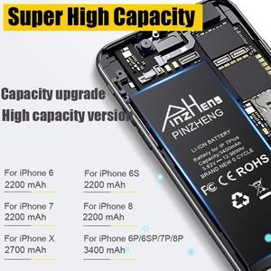 Image 3 - بطارية عالية السعة من PINZHENG لهواتف iPhone 6 6S 7 8 Plus X بطارية بديلة لهاتف iPhone 7 8 6 6S Plus X