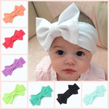 Fashion Toddler Girls Hairbands Children Headband Baby Girl Big Bow Hairband Stretch Turban Knot Accessoire