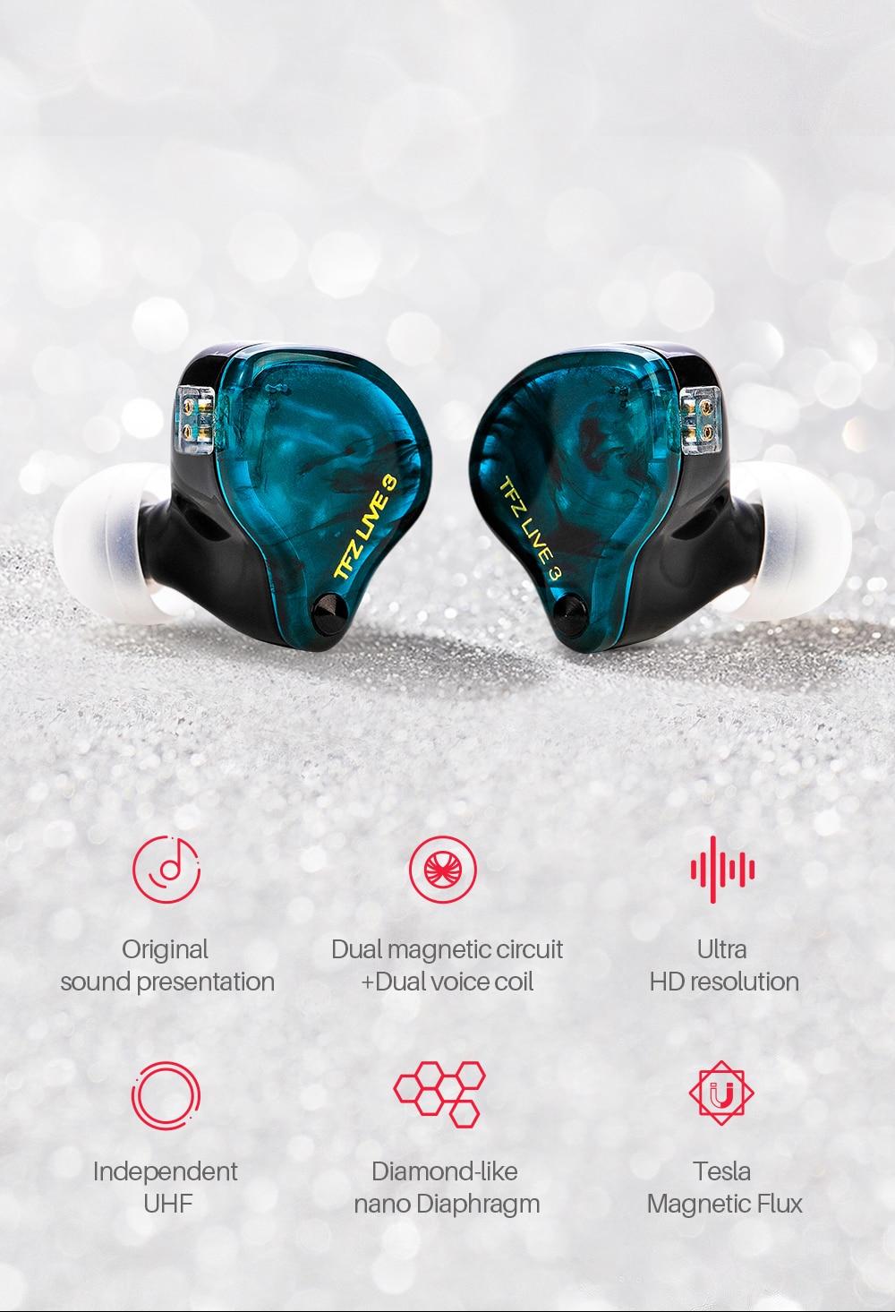 Tfz viver 3 in-ear circuito magnético duplo
