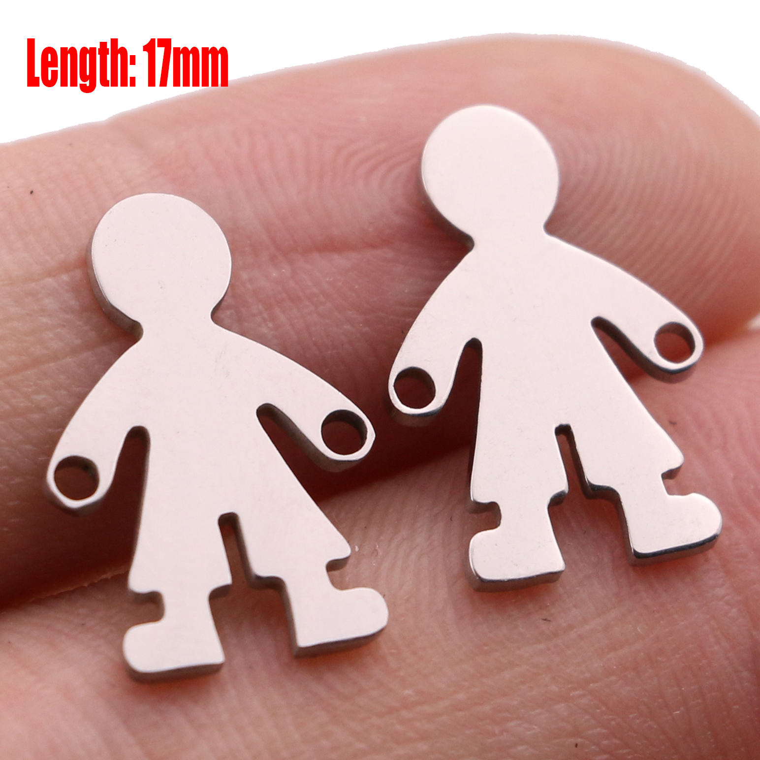 5pcs Family Chain Stainless Steel Pendant Necklace Parents and Children Necklaces Gold/steel Jewelry Gift for Mom Dad New Twice - Цвет: Steel 18