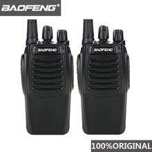 2 pièces Baofeng BF C1 talkie walkie 16CH Radio bidirectionnelle Woki Toki UHF Portable jambon Radio CB 5W lampe de poche HF émetteur récepteur Comunicador