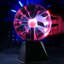 Lampe boule de Plasma magique, nouveauté, veilleuse de noël, cadeau de décoration pour enfants, 220V, 4/5/6 pouces