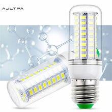 100 Uds LED Bombilla Luz de maíz E27 E14 B22 G9 GU10 Base 220V SMD 5730 24 36 48 56 69 72 LEDs bombilla energía para el hogar iluminación
