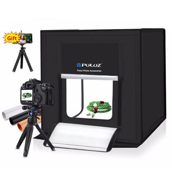 PULUZ 40*40cm Mini Studio fotograficzne LED Softbox fotografia miękkie pudełko ue wtyczka LED budka foto oświetlenie Studio strzelanie pudełko w kształcie namiotu zestaw tanie i dobre opinie CN (pochodzenie) About 40x40x40cm 16x16x16 (unfolded) 1 8kg Pakiet 1 Nylon Cloth EN4368 Input AC 110-240V 0 2A Output 12-26V 3A