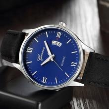 Men's Watch Luxury Leather Date Waterproof Quartz Business Wrist Watches zegarki meskie reloj hombre marca de lujo horloge man