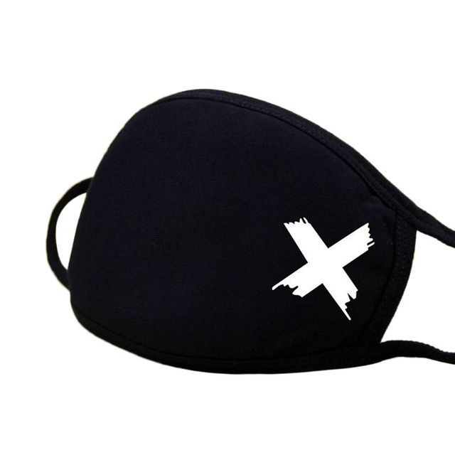 Unisex Winter Warm Thickening Kpop Member Name Signature Cotton Half Face Mouth Mask Classic Black White Muffle Respirator Fans