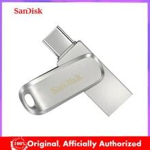 SanDisk – clé USB 3.1 en métal SDDDC4, support à mémoire de 512GB, 256GB, 128GB, 64GB, 32GB, 1TB, lecteur Flash de Type C, pour ordinateur portable/téléphone