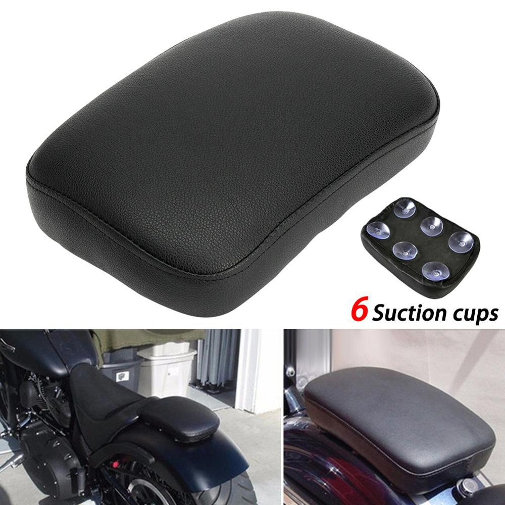 Rear Passenger 6 Suction Cup Seat Cushion Black Rear Passenger Seat Suction Cup Cushion For Harley