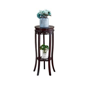 Деревянный домашний горшок в китайском стиле для хранения бонсай в гостиной, Одноместный цветочный горшок, Многоэтажный стеллаж для помеще...