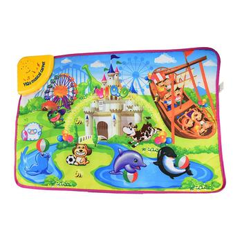 Cartoon Animal Playground Music Sound Touch Carpet Kids Play Mat Education Toy  Kids Touch Paly Game Mats Gift