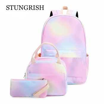 Teen Girls Backpack Set Kids School Bookbag Lightweight Waterproof Polyester Big Capacity 15 inches Laptop Bag Bags - discount item  50% OFF School Bags