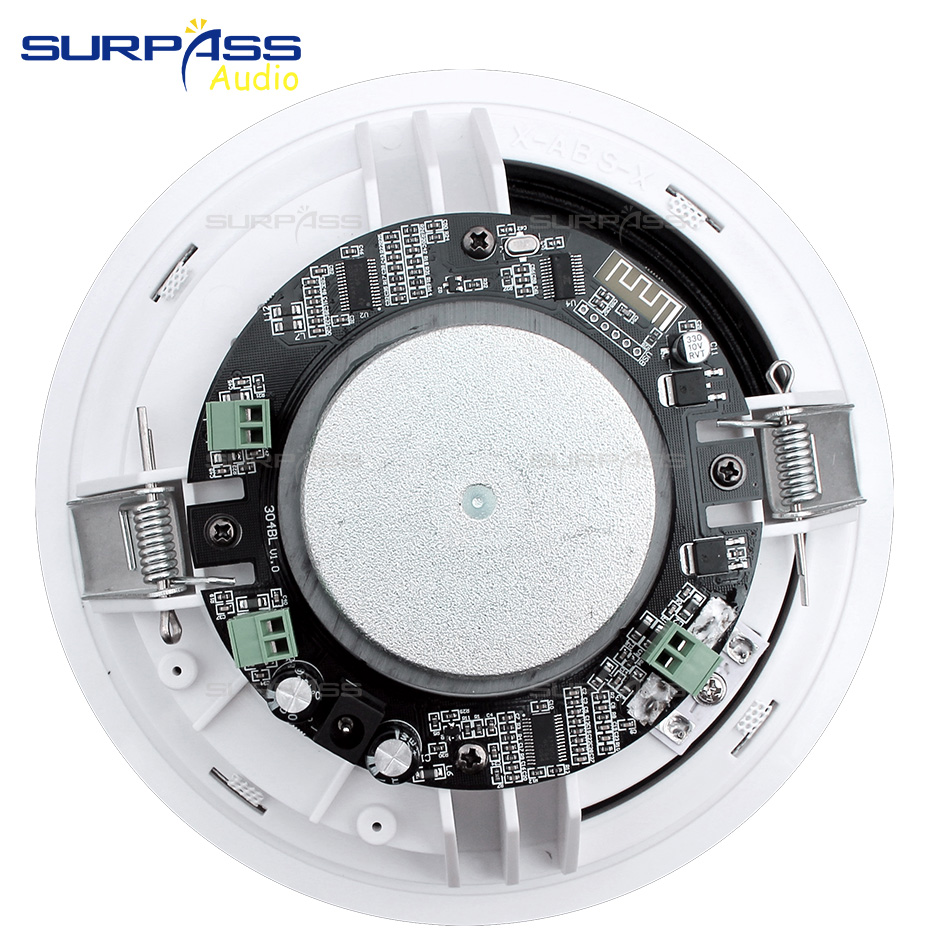 4PCS Power Output Wall Mounted In-Ceiling Speakers Digital Smart Home Audio Loundspeaker Stereo Music Player Active Ceiling SPK 3
