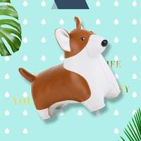 PU leather Animal bookend corgi dog Paperweight Handicraft Ornament Art Home Decoration Creative souvenir Personal Birthday Gift