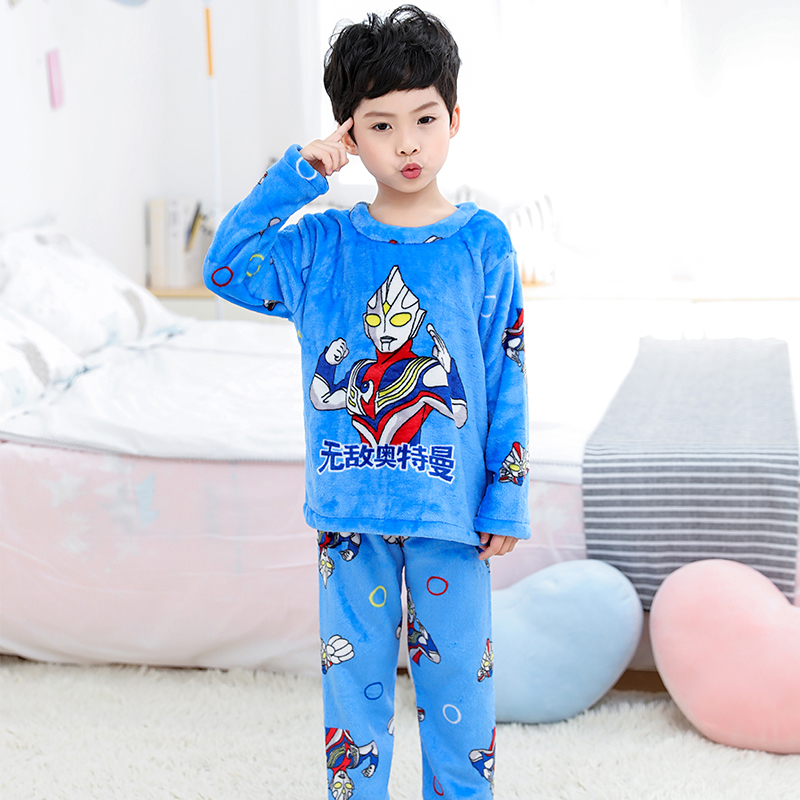 Новинка года; зимняя детская флисовая Пижама; теплая фланелевая одежда для сна; домашняя одежда для девочек из кораллового флиса; детская пижама; домашняя одежда; Пижама для мальчиков - Цвет: model 12