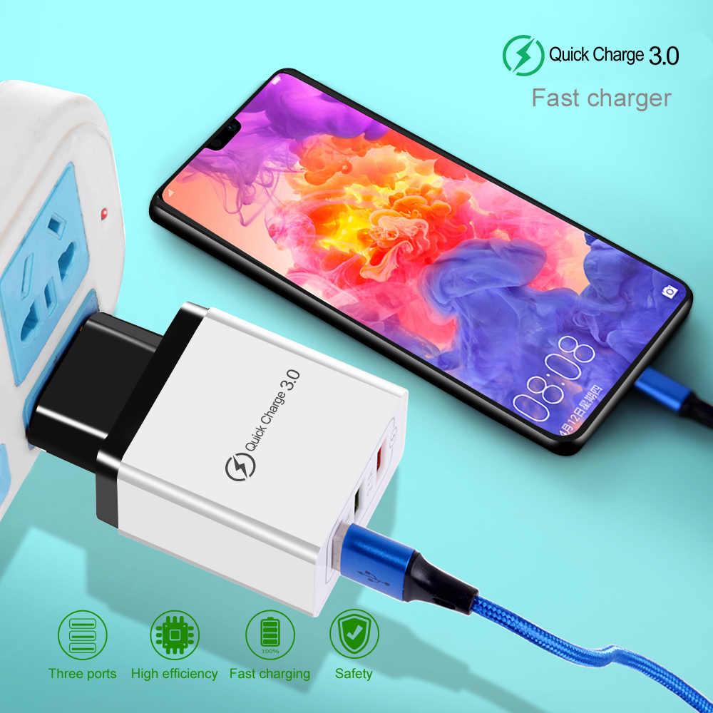 OLAF USB зарядное устройство Быстрая зарядка 3,0 для iPhone быстрое зарядное устройство для samsung A50 мобильный телефон QC 3,0 настенное зарядное устройство для huawei P20 lite