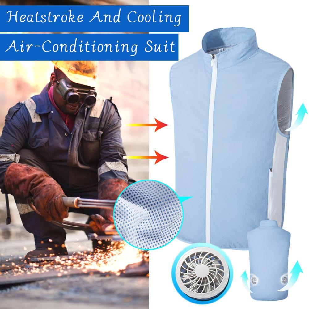 Жилет мужской охлаждающий с вентилятором USB, жилет для активного отдыха, походов, рыбалки, велоспорта, быстрого охлаждения, для работы на отк...