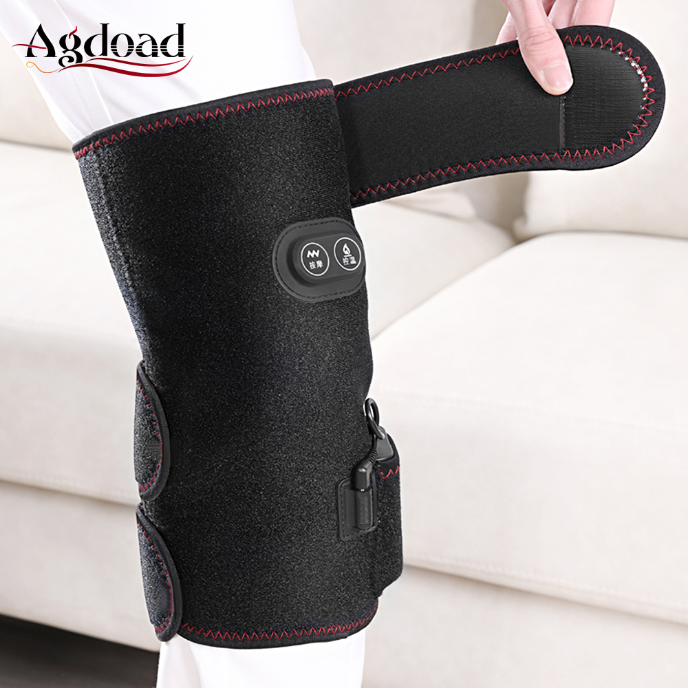 1pair Knee Heating Pads Rechargeable Knee Support Brace For Osteoarthritis Knee Pain Relief Kneading Massage Knee Brace