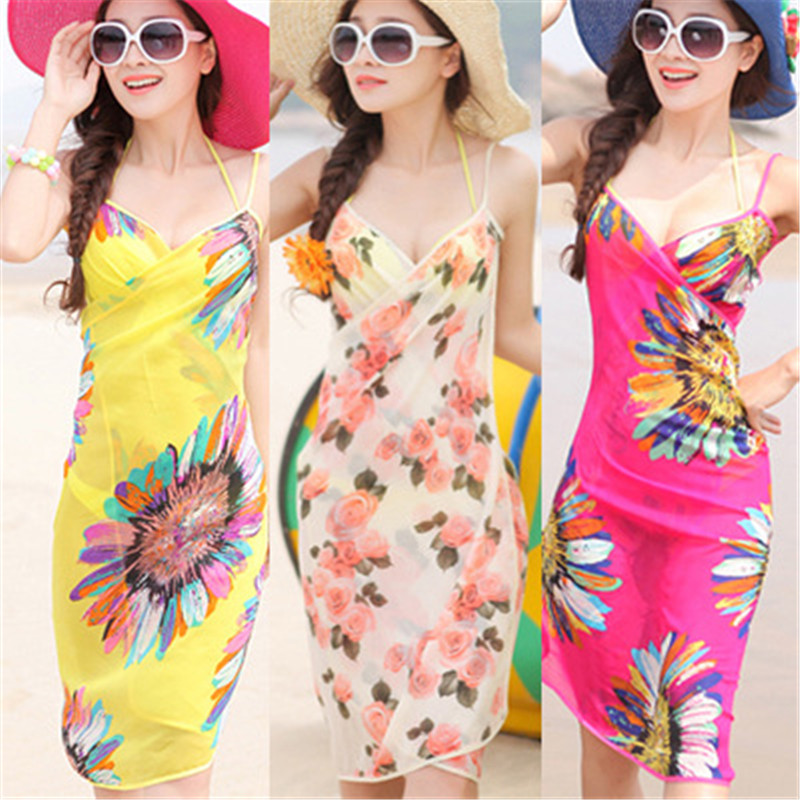Swimwear Dress Skirts Bikini Wrap Pareo Sarong Cover-Ups Beach-Wear Sexy Women Towel