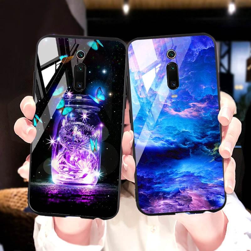 Tempered Glass Case For Xiaomi Redmi Note 5 6 7 8 S3 K20 Glass Case For Xiaomi Redmi Note 5 6 7 8 Pro Cover Protective Fundas