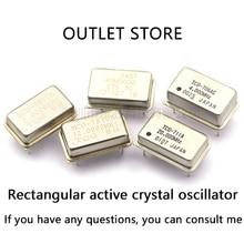 Crystal Oscillator 10MHZ 10M 10.000MHZ In-line Active Crystal OSC DIP-4 Rectangular Clock Vibration Full Size 5pcs