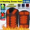 9 Обогреваемая площадь электрический жилет 3 Скорость Регулируемая Температура утепленная куртка с подогревом USB жилетка ультра светильник...