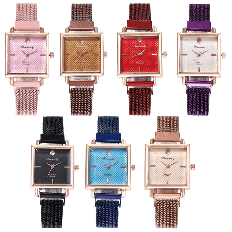 Milan Fashion Belt Series Bracelet Watch Exquisite Multicolor Square Diamond Watches Joker Lady Wrist Watch
