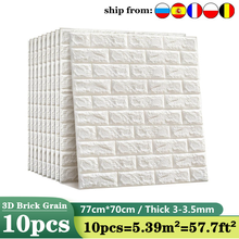 10pc 77*70cm 3D Wall Sticker Imitation Brick Bedroom Decor Waterproof Self-adhesive Wallpaper For Living Room TV Backdrop Decor